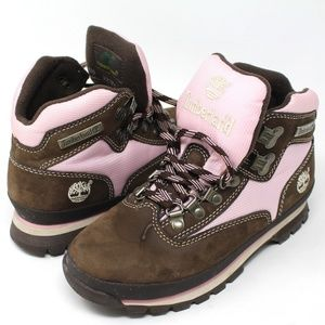 Hiking Boots US 6M ACT Brown Pink Leather Trail